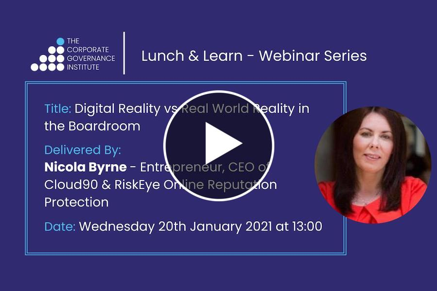 Digital Reality vs Real World Reality in the Boardroom