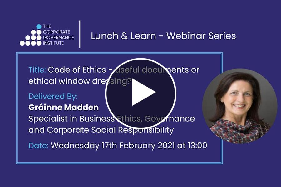 Code of Ethics - useful documents or ethical window dressing?