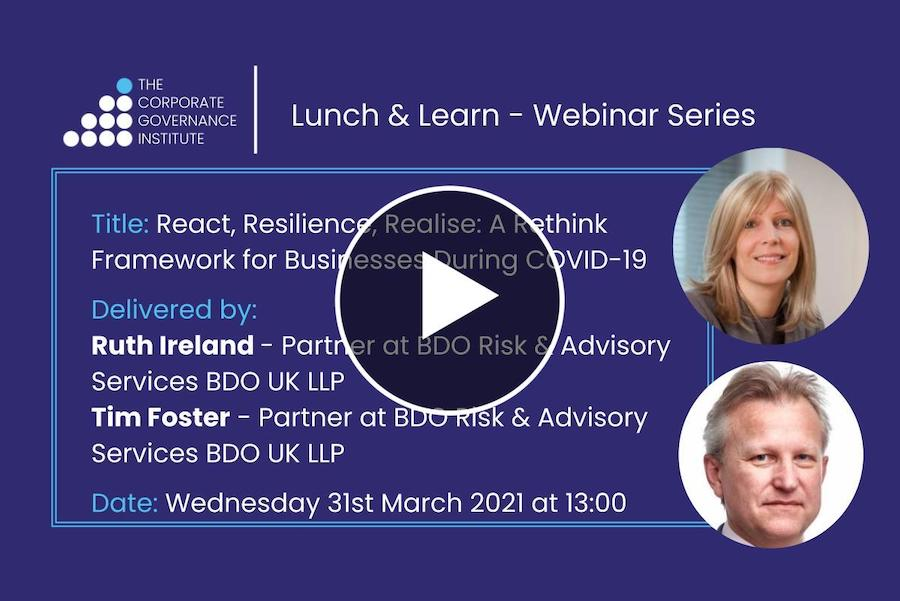 React, Resilience, Realise- A Rethink Framework for Businesses During COVID-19