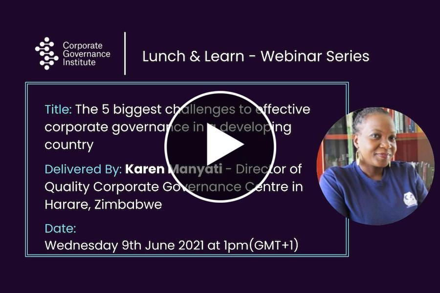 The 5 biggest challenges to effective corporate governance in a developing country